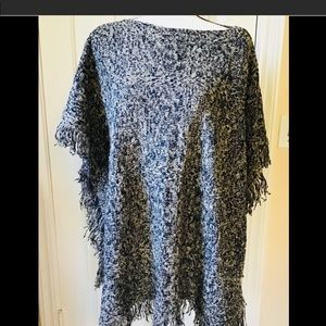 Pullover  Fringed Sweater Poncho